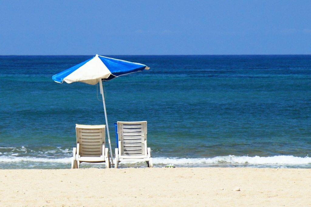 Bain de soleil plage